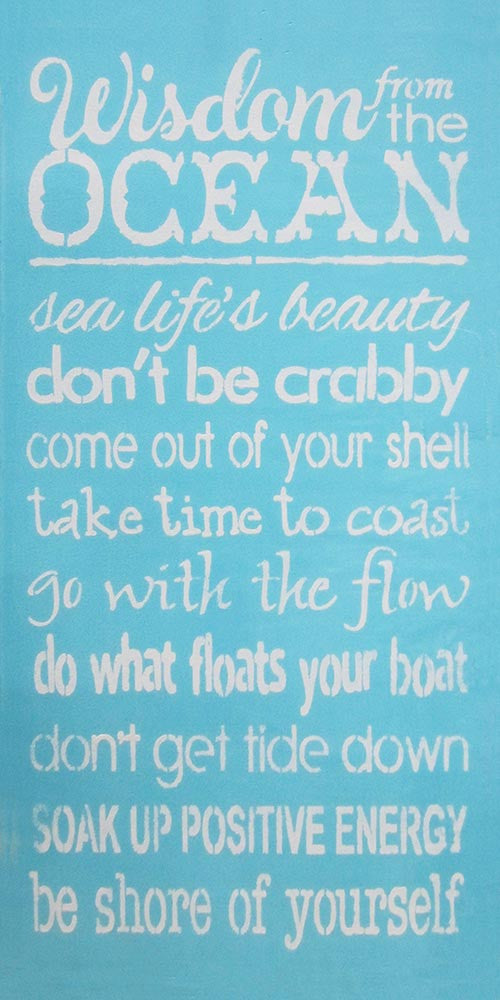 "12"" x 24"" Wisdom from the Ocean..."