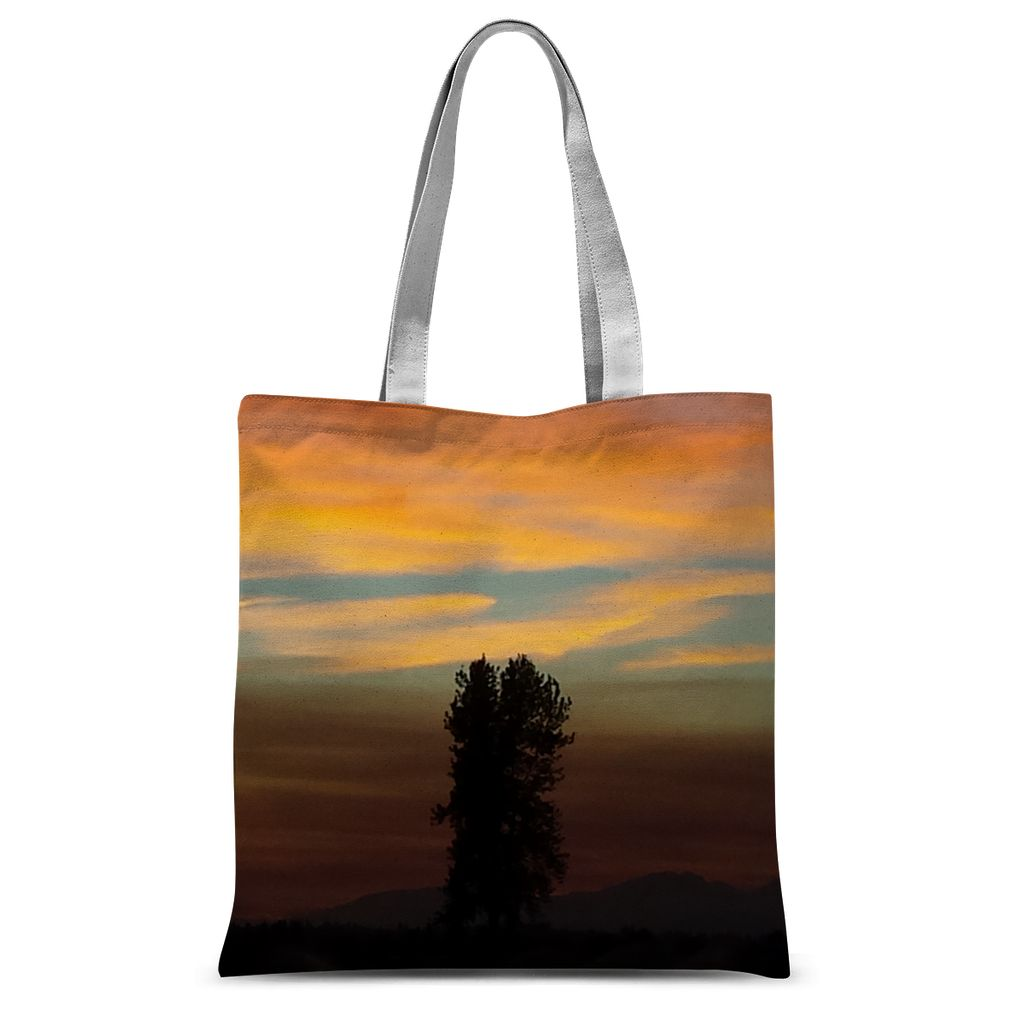 Lone Wolf: Sublimation Tote Bag