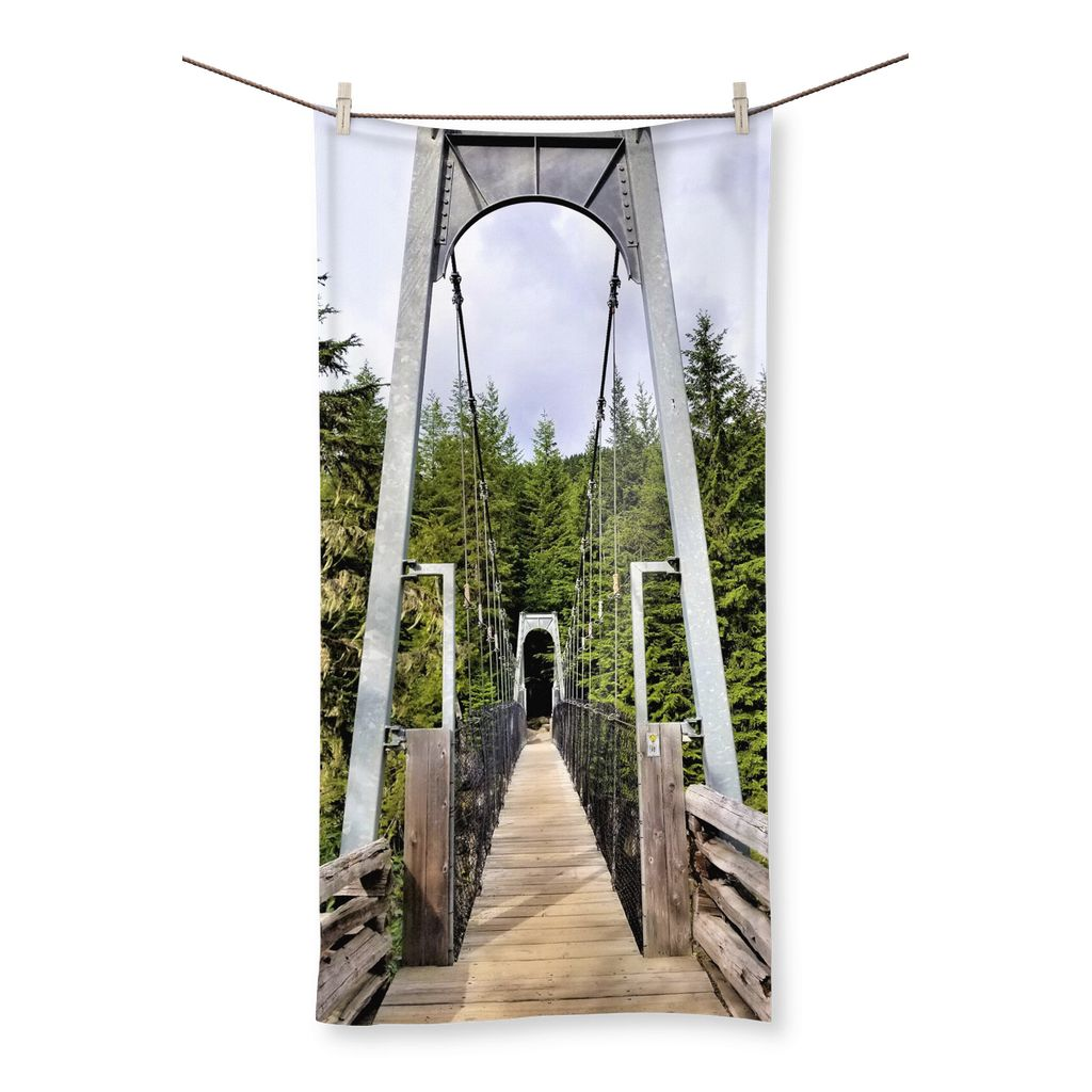 Forest Bridge:  Beach Towel