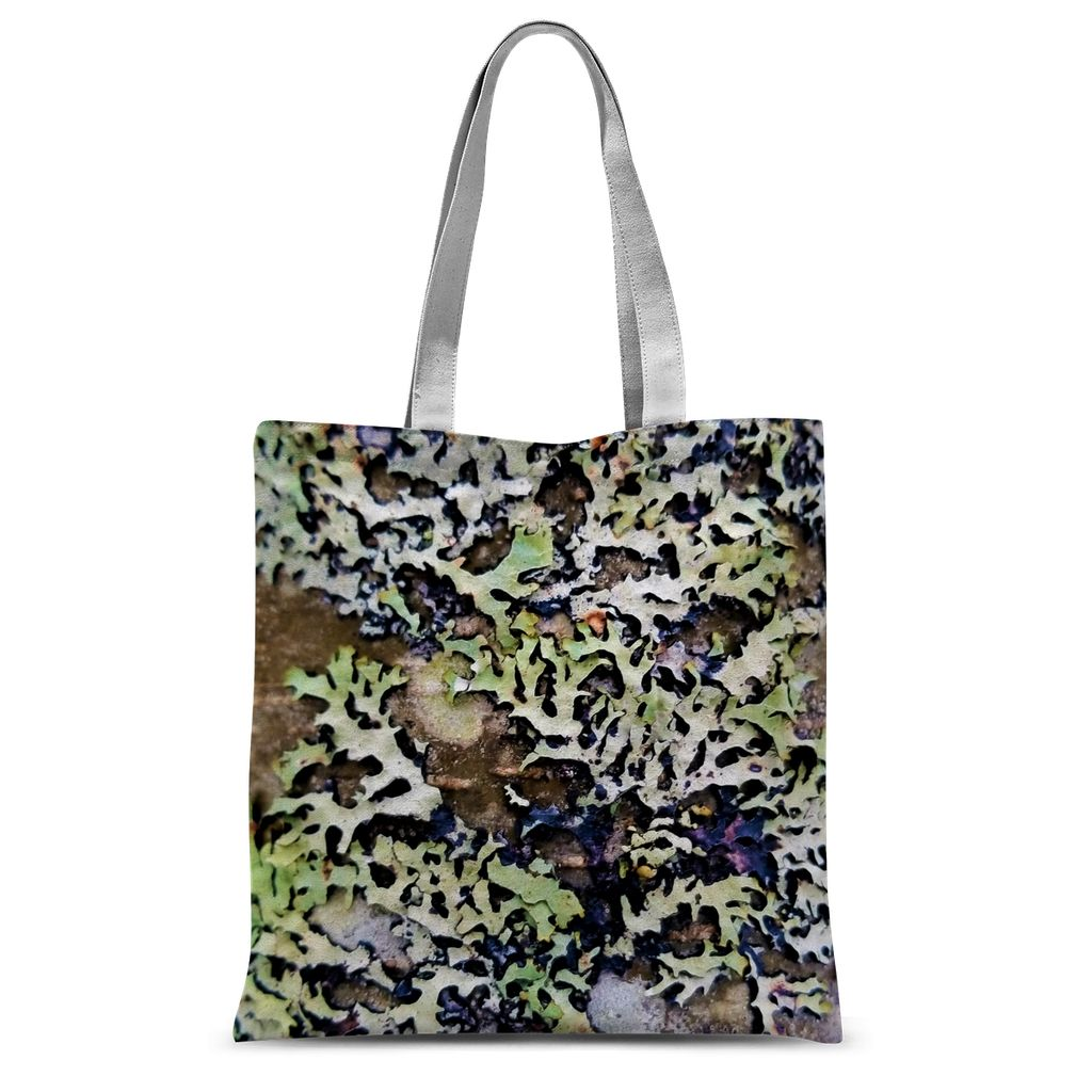 Lichen Up: Sublimation Tote Bag