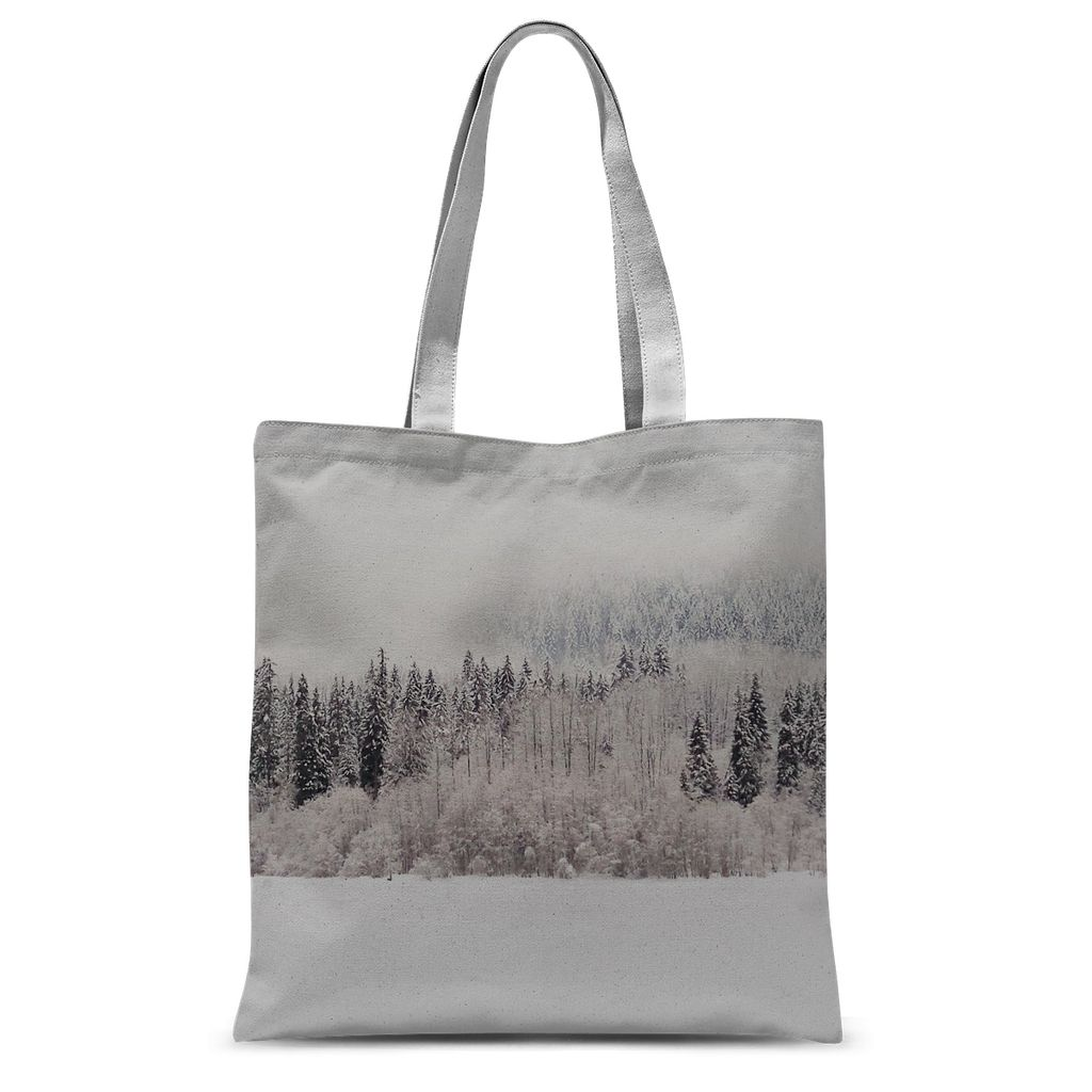 White Out:  Sublimation Tote Bag
