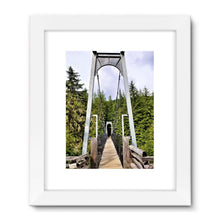 Forest Bridge:  Framed Fine Art Print