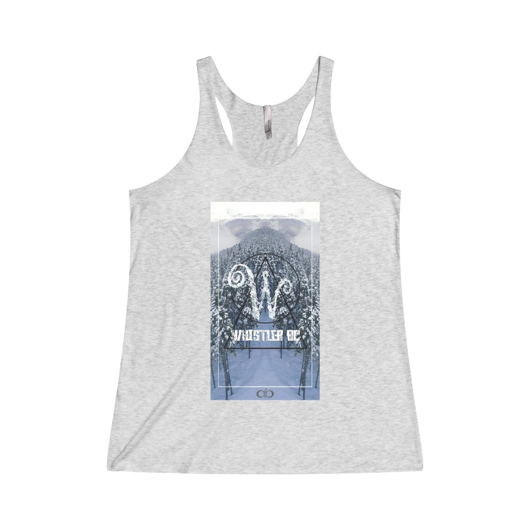 Whistler Wonderland: Women's Tri-Blend Racerback Tank