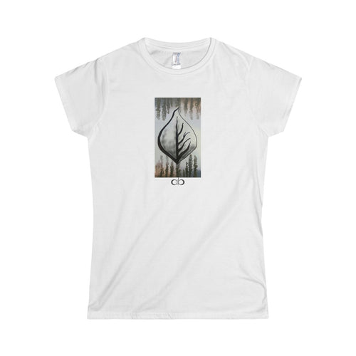Misty Leaf: Women's Softstyle Tee
