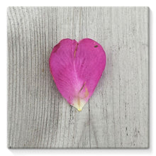 Petal Heart: Stretched Canvas