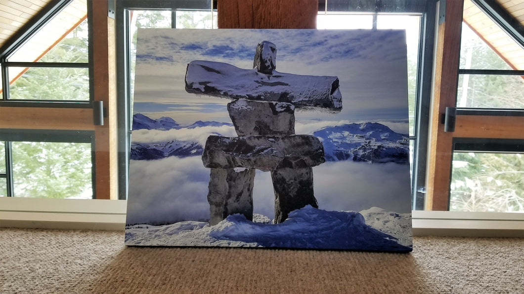 Inukshuk on Canvas - Signed