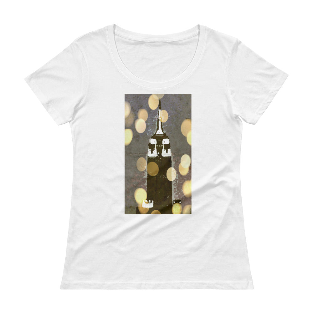 Empire at Night: Women's Scoopneck T-Shirt