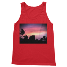 Sunset Palm Softstyle Tank Top