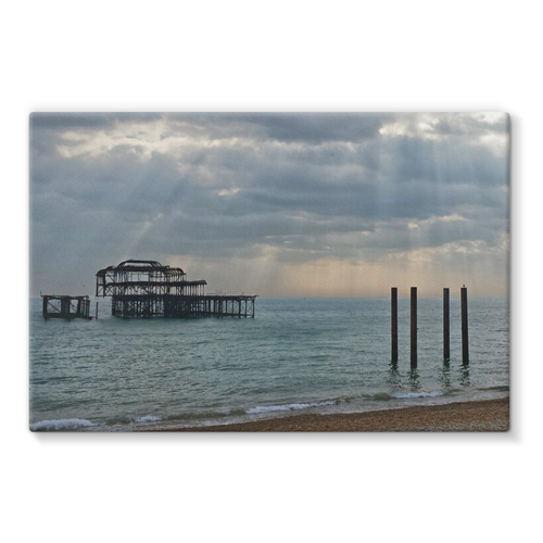 Brighton Beach Pier: Stretched Canvas