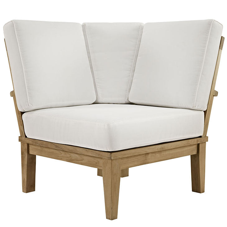 Ginald Outdoor Patio Teak Corner Sofa