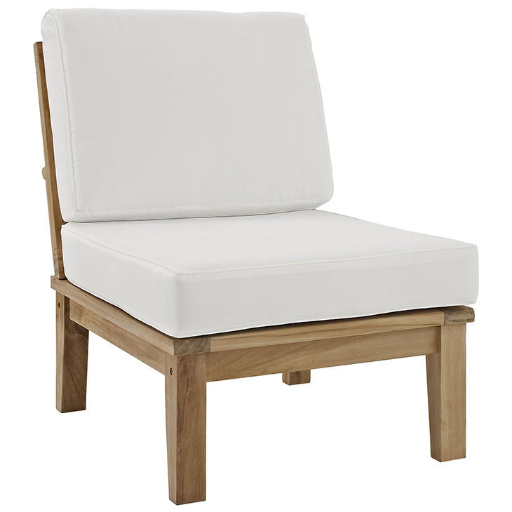 Ginald Armless Outdoor Patio Teak Sofa