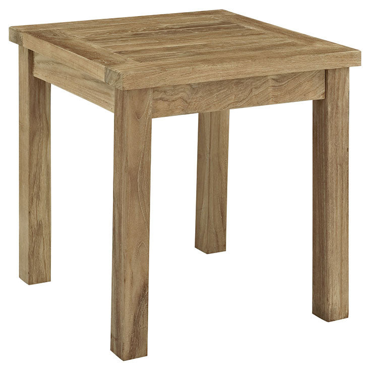 Ginald Outdoor Patio Teak Side Table