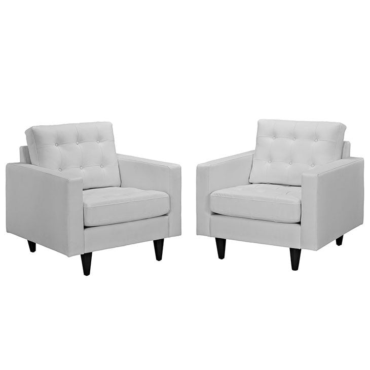 Evelynda Armchair Leather Set of 2