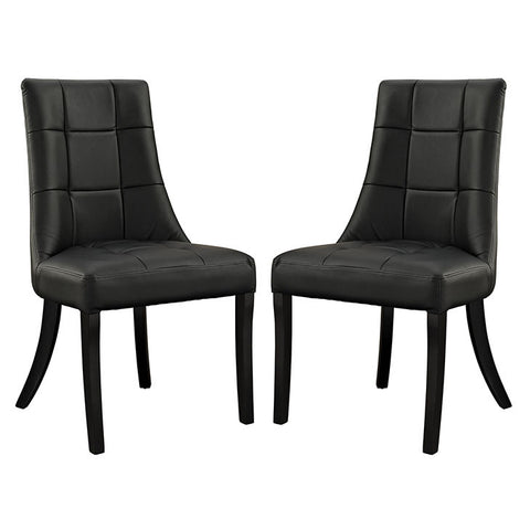 Essica Vinyl Dining Chair Set of 2