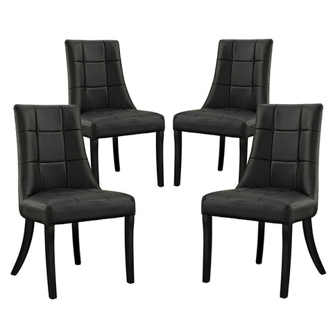 Essica Vinyl Dining Chair Set of 4