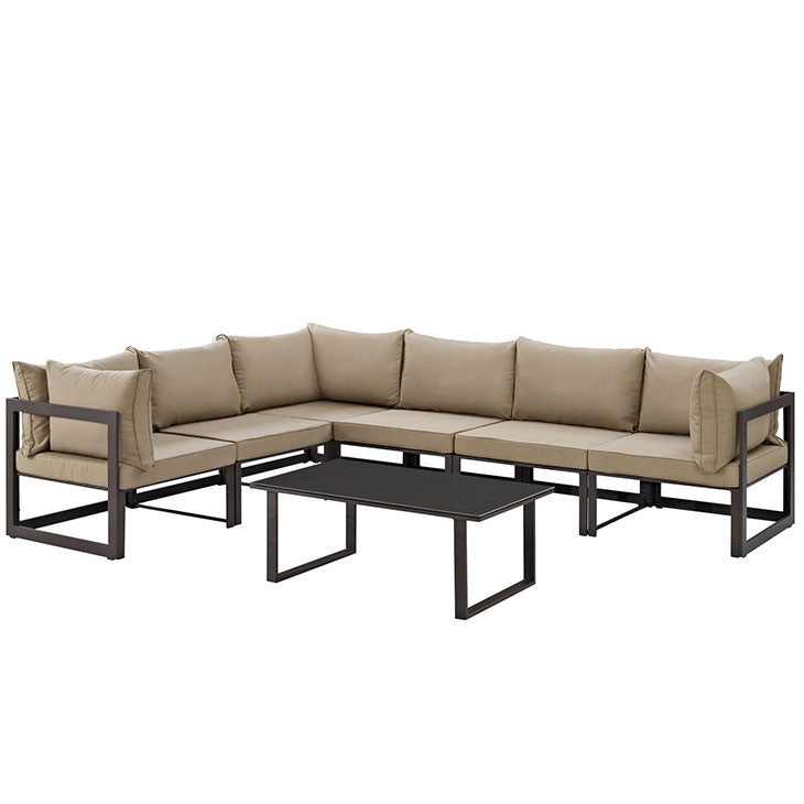 Brette 7 Piece Outdoor Patio Sectional Sofa Set