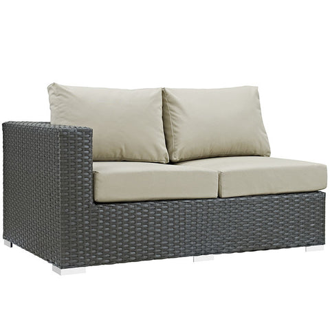 Anger Outdoor Patio Sunbrella® Left Arm Loveseat