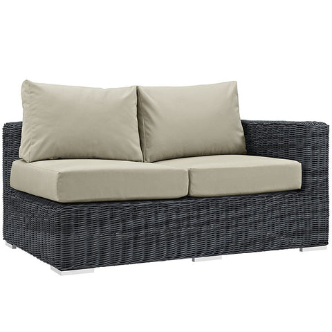 Clydianne Outdoor Patio Sunbrella® Right Arm Loveseat