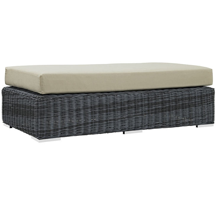 Clydianne Outdoor Patio Sunbrella® Rectangle Ottoman