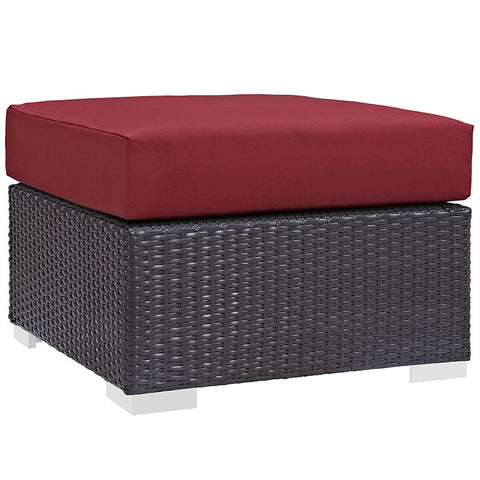 Gabrian Outdoor Patio Fabric Square Ottoman