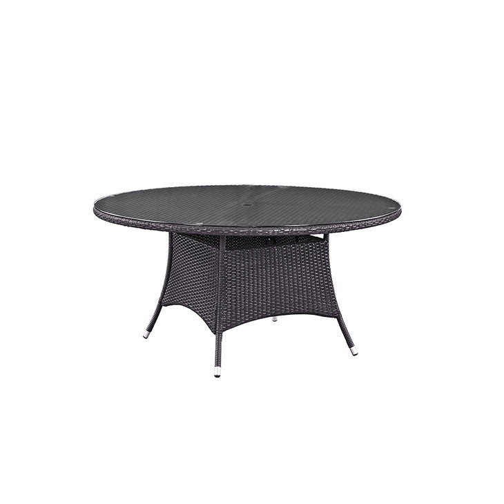 "Gabrian 59"" Round Outdoor Patio Dining Table"