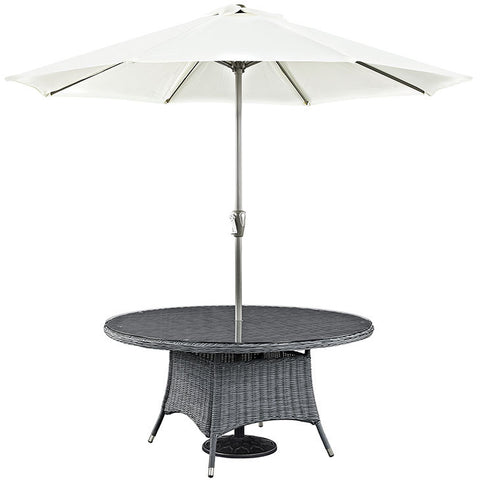 "Clydianne 59"" Round Outdoor Patio Dining Table"