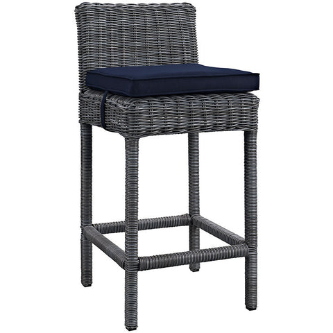 Clydianne Outdoor Patio Sunbrella® Bar Stool