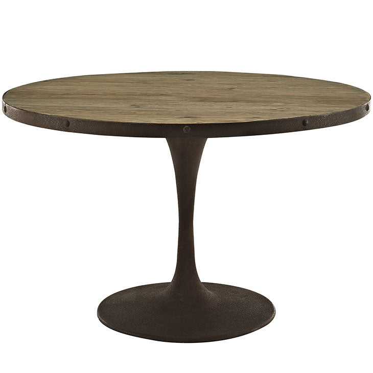"Berto 48"" Round Wood Top Dining Table"