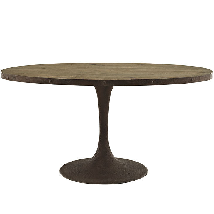 "Berto 60"" Oval Wood Top Dining Table"