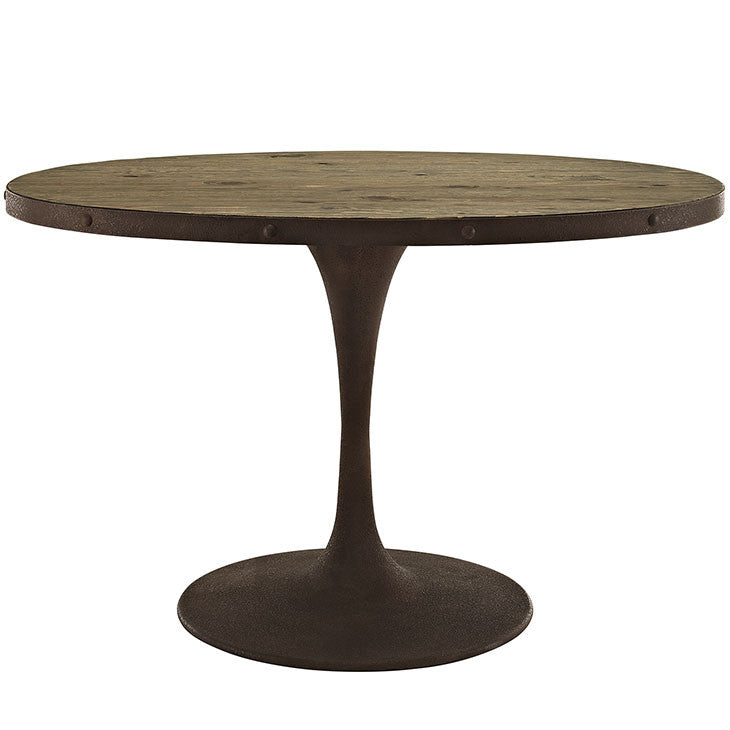 "Berto 47"" Oval Wood Top Dining Table"