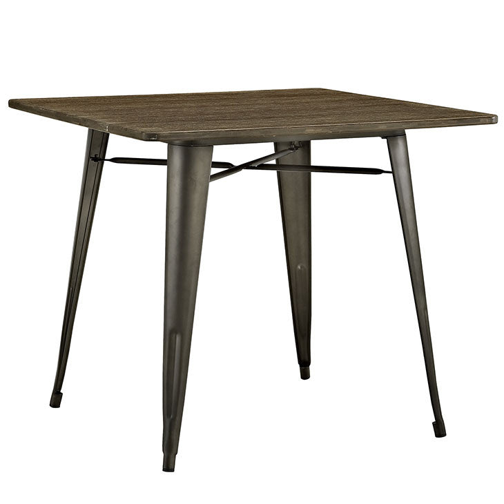 "Crainette 36"" Square Wood Dining Table"