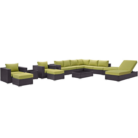 Gabrian 12 Piece Outdoor Patio Sectional Set
