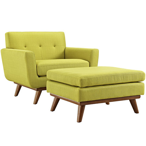 Benja 2 Piece Armchair and Ottoman
