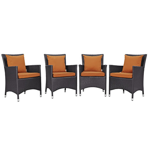 Gabrian 4 Piece Outdoor Patio Dining Set