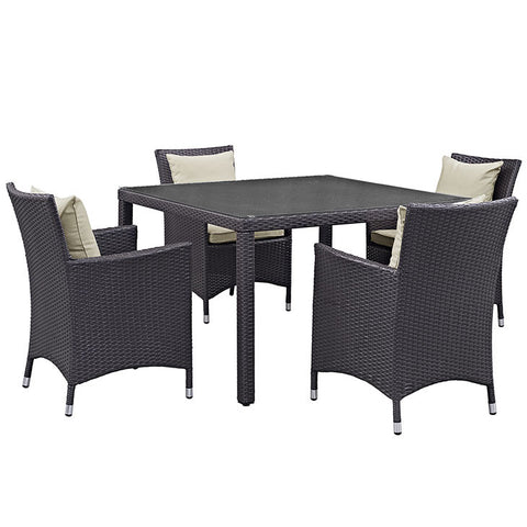 Gabrian 5 Piece Outdoor Patio Dining Set