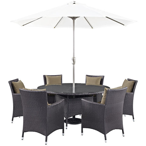 Gabrian 8 Piece Outdoor Patio Dining Set
