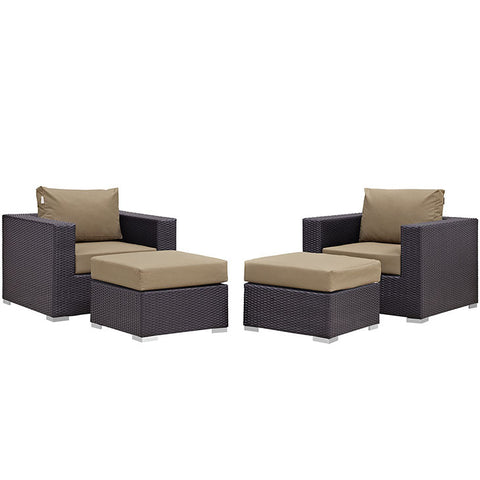 Gabrian 4 Piece Outdoor Patio Sectional Set