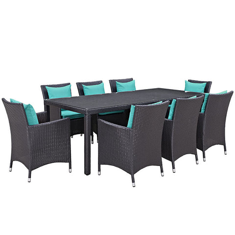 Gabrian 9 Piece Outdoor Patio Dining Set