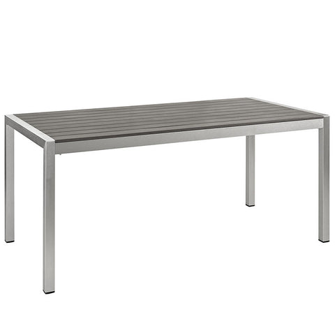 Aprily Outdoor Patio Aluminum Dining Table