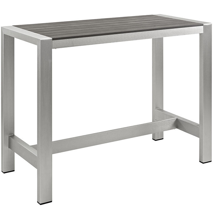 Aprily Outdoor Patio Aluminum Rectangle Bar Table