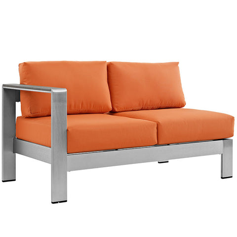 Aprily Left-Arm Corner Sectional Outdoor Patio Aluminum Loveseat