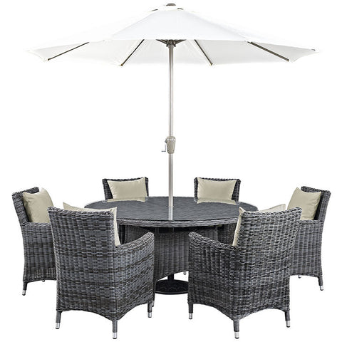 Clydianne 8 Piece Outdoor Patio Sunbrella® Dining Set
