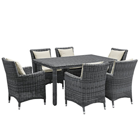 Clydianne 7 Piece Outdoor Patio Sunbrella® Dining Set