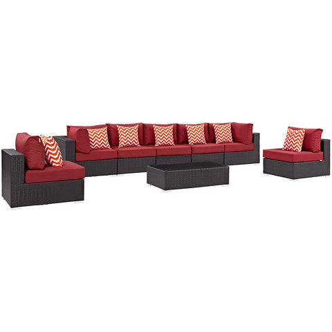 Gabrian 8 Piece Outdoor Patio Sectional Set