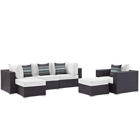 Gabrian 6 Piece Outdoor Patio Sectional Set
