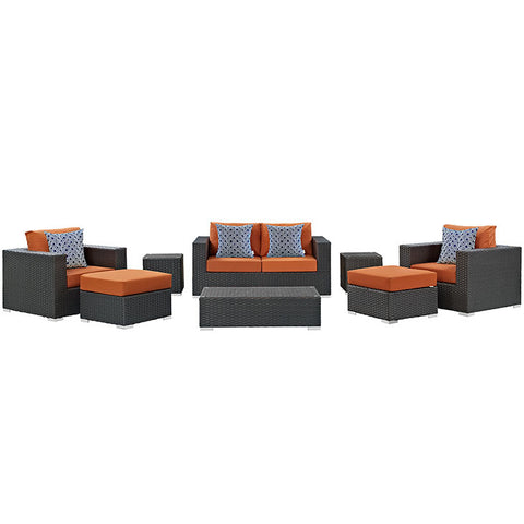Anger 8 Piece Outdoor Patio Sunbrella® Sectional Set
