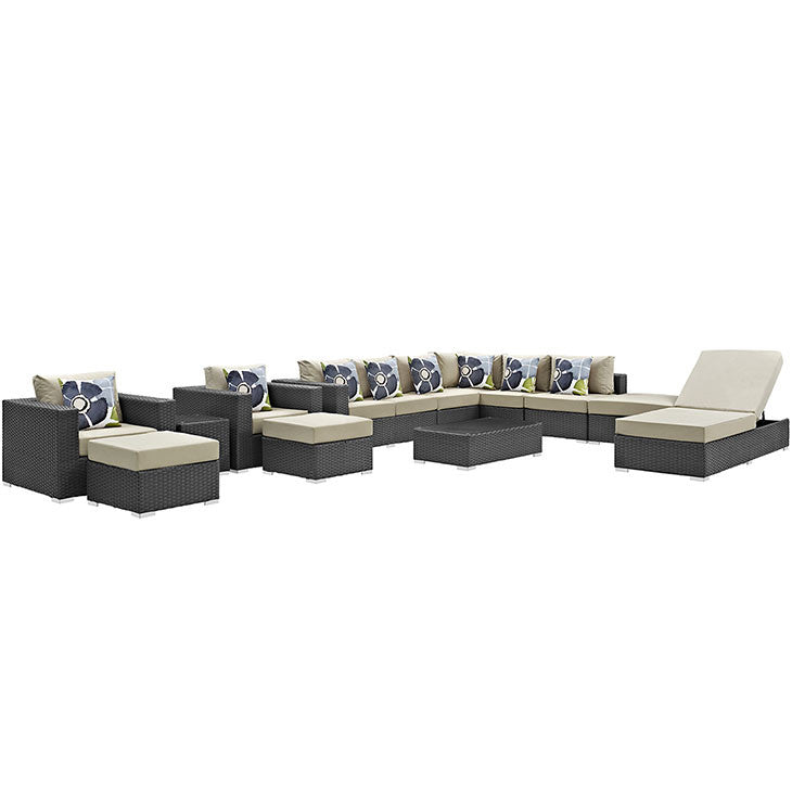 Anger 12 Piece Outdoor Patio Sunbrella® Sectional Set
