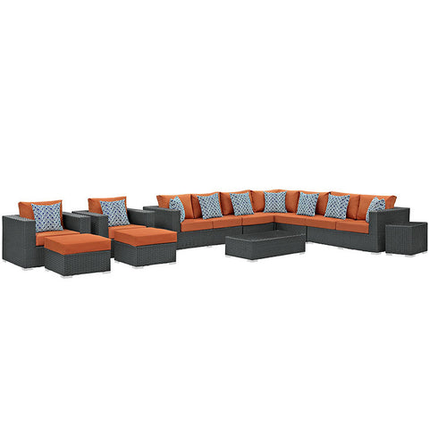 Anger 11 Piece Outdoor Patio Sunbrella® Sectional Set