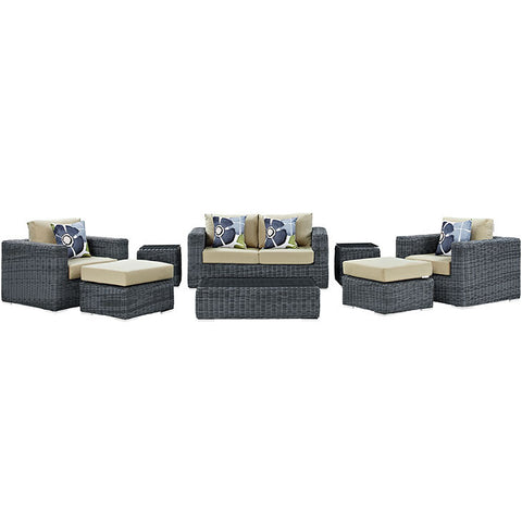 Clydianne 8 Piece Outdoor Patio Sunbrella® Sectional Set