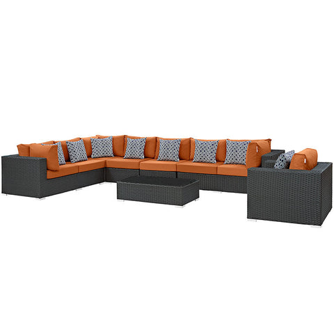 Anger 7 Piece Outdoor Patio Sunbrella® Sectional Set